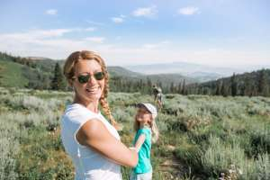 Mom and Daughter Hiking