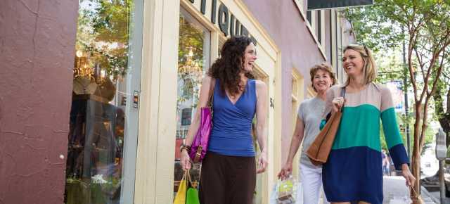 Women Shopping Downtown