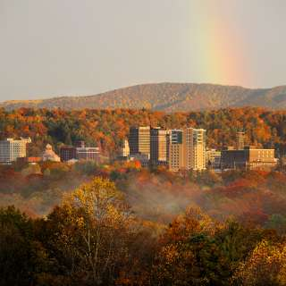 Downtown Asheville Skyline in Fall