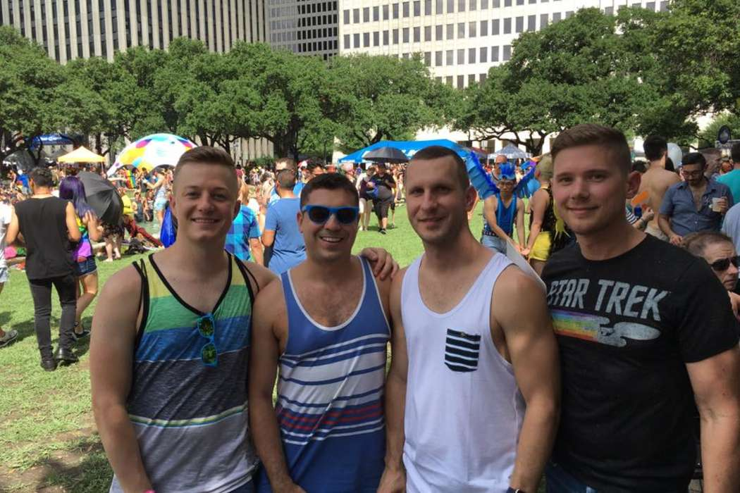 Pride Festival attendees