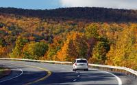Rt 23 Heading up mountain in Catskill Park
