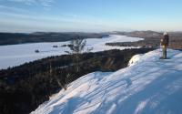 Snowshoeing Bald Mountain w/ views of Fulton Chain of Lakes