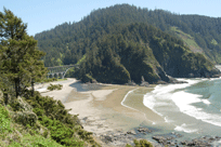 Beach below Heceta Head Lighthouse