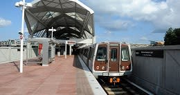 Metrorail in Tysons Corner