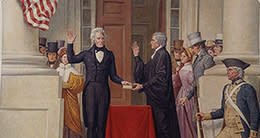 Inauguration - Andrew Jackson depiction