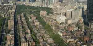 Aerial of the Emerald Necklace boston