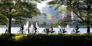cycling on the esplanade