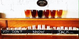 Beer Flight at Jack's Run Brewing Company