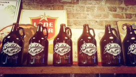Bulldog Brewing Company Whiting Growlers