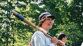 Deep River Grinders Baseball Player