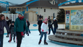Deep River Waterpark Things to Do Crown Point Ice Skating