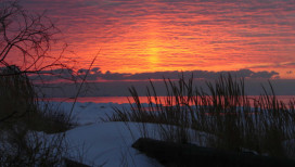Indiana Dunes State Park Sunset Winter
