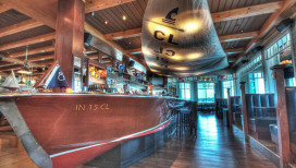 Lighthouse Restaurant Dining Cedar Lake Bar