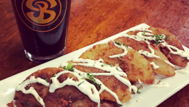 Old World Pierogis at Shoreline Brewery