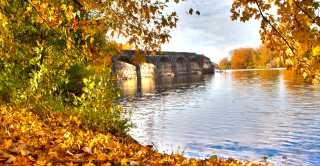 Fall at the Richmond Aqueducts in Cayuga County