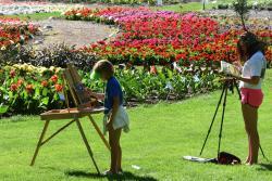 CSU trail gardens painting class