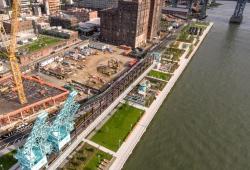 Aerial angle of Domino Park