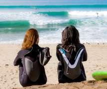 Surfers at Marina Sate Beach