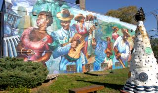 "Bronzeville Mural ""The Great Migration"""