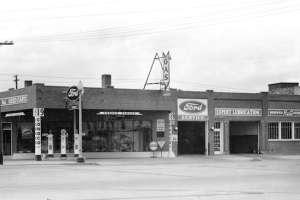 Historic photo of garage