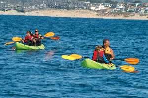 Family Kayaking on Monterey Bay