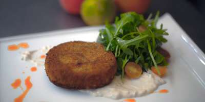 Recipe: Corn Cakes With Cucumber Aioli