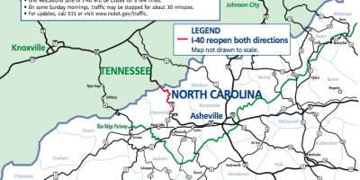 I-40 to Asheville, NC Open