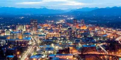 Asheville Downtown Skyline Night