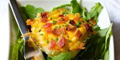 Baked Eggs in a Nest #Recipe | ExploreAsheville.com
