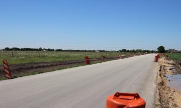 Alves Lane infrastructure upgrade road widening – results of 2013 Bond Election package