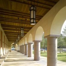 Blanton Museum of Art -- exterior corridor