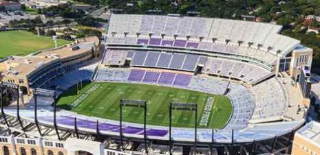 TCU stadium aerial view