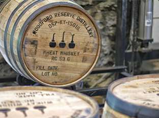 Bourbon Barrels at Woodford