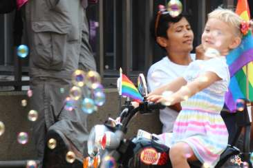 Young Girl celebrates Oakland Pride