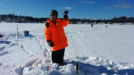 Wayne County Ice Fishing - Photo by Chris Kenyon  Courtesy of Wayne County Tourism