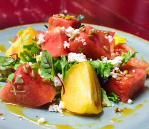 Huntsville Restaurant Week watermelon salad