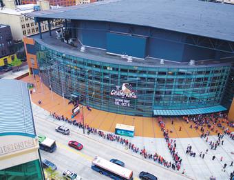 Grand Rapids Griffins downtown opener at Van Andel Arena.