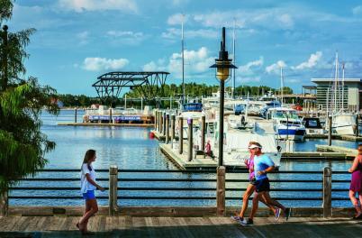 Port city Marina river walk