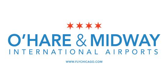 Chicago O'Hare and Midway International Airports logo