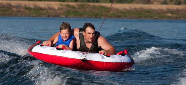 Tubing on the Lake by Katie Zolezzi