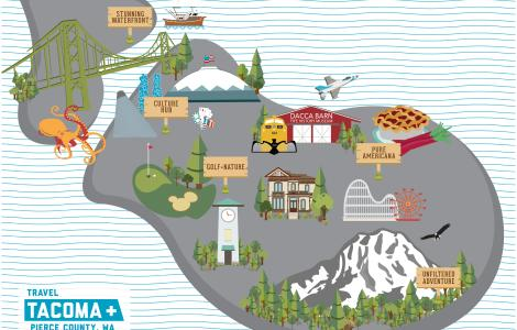 Map of Pierce County - Visitor Overview