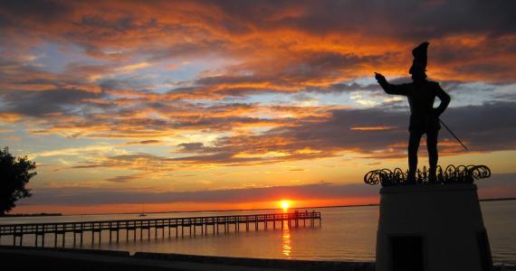 Gilchrist Park - Sunset over Harbor