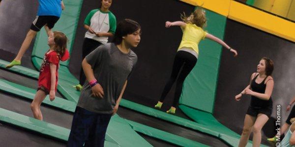 Rockin' Jump Trampoline Park :: Girl Flipping