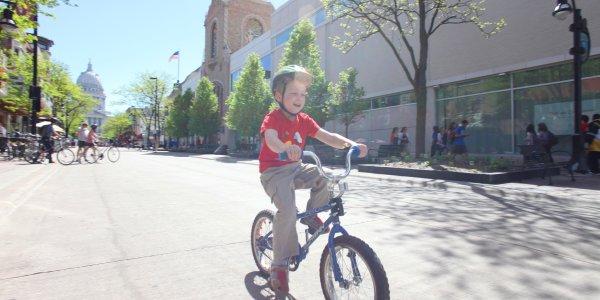 Boy on Bike