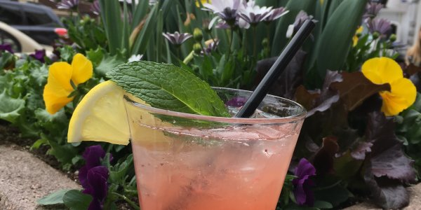 Strawberry Patio Punch at Basset Street Brunch Club