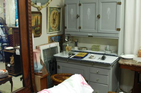 Antique shops like Barbara's Victorian Closet are open during Street Fair, too