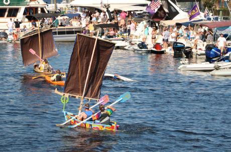 The Quick 'n Dirty Boatbuilding contest and race is a crowd favorite