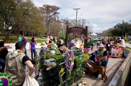 Mardi Gras - 'Jurassic Bark' at the Krewe of Mardi