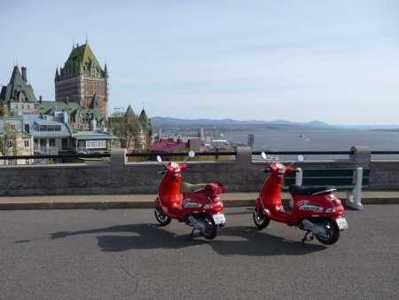 Québec en vespa / Enduro KTM