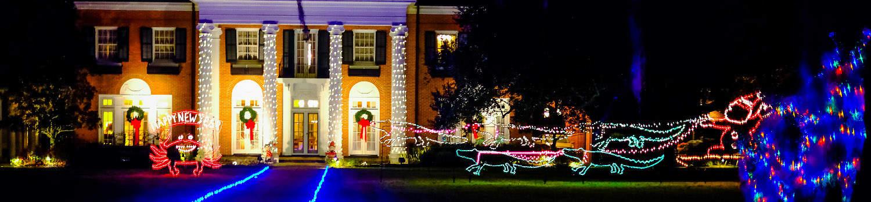 Lighted House _ Lake Charles
